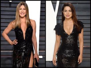 Video: Priyanka Chopra Interviews Jennifer Aniston At Oscars