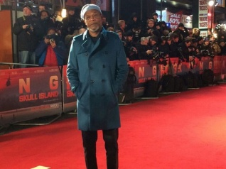 Samuel LJackson Attends Academy Awards For Goody Bags