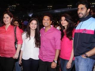 Abhishek Posts A Picture With Aishwarya & Sachin