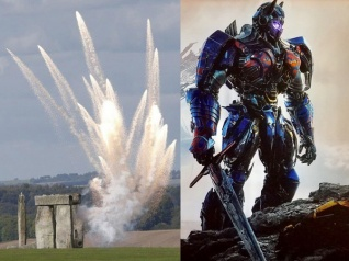 Michael Bay Destroys Stonehenge For The Last Knight