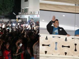 Pics! Fans Go Berserk Outside Salman Khan's Home!