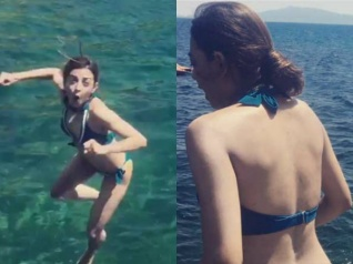 Radhika Apte Chills In A Green Bikini In Italy! See Pictures