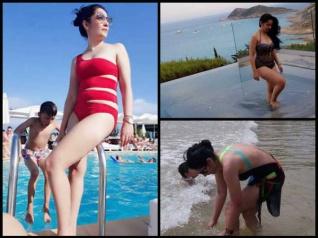 Sanjay Dutt's Wife Maanayata Dutt Spotted In A Bikini!