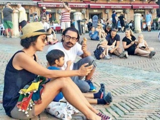 Aamir Khan Holidays In Rome With His Family! View Pictures