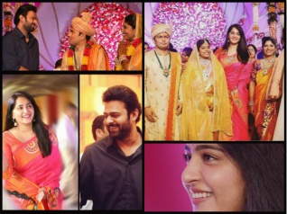 Prabhas & Anushka Shetty Attend A Wedding [New Pictures]