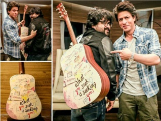 SRK Gifts Pritam A Guitar To Mark Their Musical 'Safar'