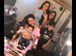 PIC: Kareena Gets A 'Cute' Visitor On The Sets!