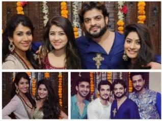 YHM Actors Attend Karan & Ankita's Diwali Bash (PICS)