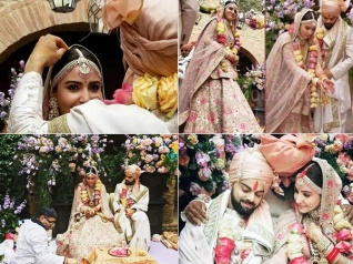 New Candid Pictures From Anushka Sharma & Virat's Wedding
