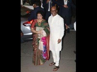 Rajinikanth Arrives At Isha Ambani's Wedding