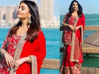 Aishwarya Rai Is A 'Beauty In Red' In These Pics From Doha!