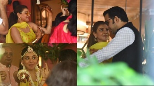 Kajal Aggarwal Dances With Gautam Kitchlu At Her Haldi