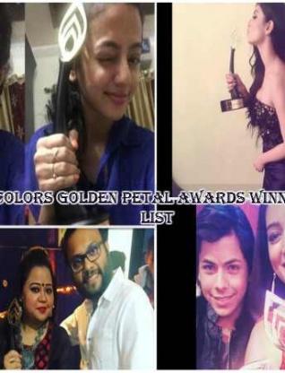 Golden Petal Awards Winners' List: Swaragini's Helly-Varun, Naagin's Mouni & Others Bag Awards-PICS