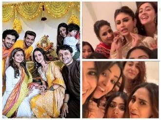 Sanaya, Drashti & Others At Arjun's House