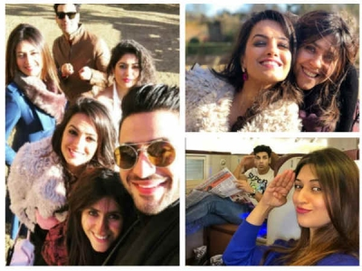 YHM's Actors Having Fun With Ekta Kapoor In London!
