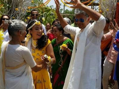 Haldi Ceremony Pictures Of Milind Soman & Ankita Konwar
