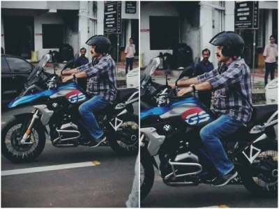 Mammootty Spotted Riding A Superbike!