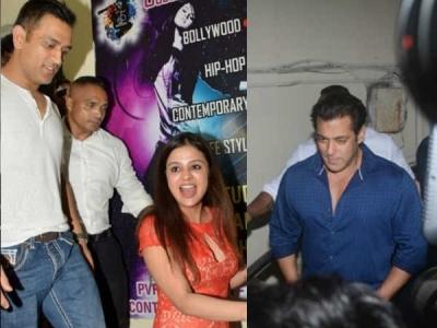 Salman Invites Dhoni & His Wife Sakshi To Watch Race 3!