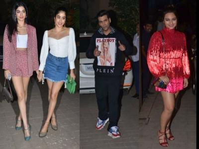 Janhvi, Khushi, KJo, Sonakshi Attend Punit Malhotra's Bash