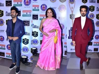 Mouni, Saqib, Aparshakti Rock Lion Gold Awards Red Carpet!