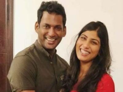 Vishal With His Wife-to-be Anisha [PICS]