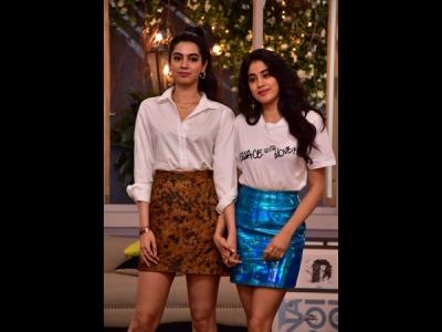 Pics! Janhvi & Khushi Shoot For First TV Appearance Together
