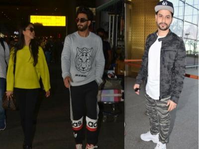 Ranveer & Kiara Snapped At Airport; Kunal's Cas Airport Look