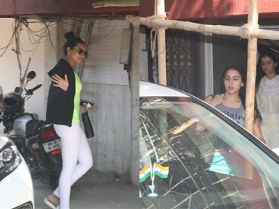 Sonakshi Sinha & Sara Ali Khan Hit The Gym