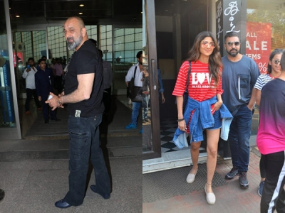 Shilpa-Raj Go Out For Lunch; Sanjay Dutt Snapped At Airport