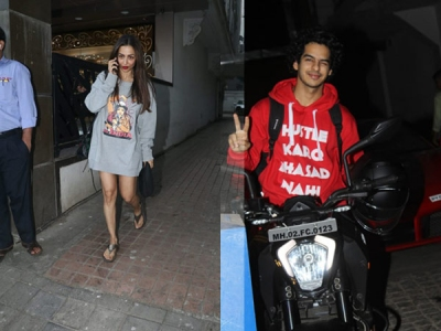 Malaika's Casual Sweatshirt Dress Look; Ishaan On Bike Ride