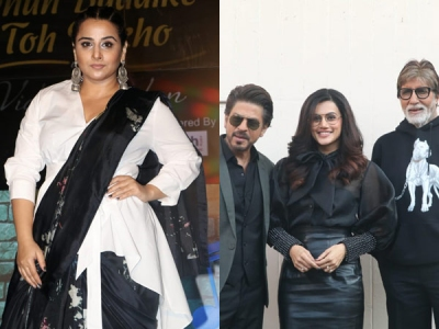 SRK, Big B & Taapsee Pose For Pic; Vidya Launches Radio Show
