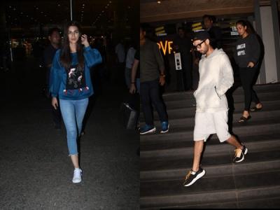 Shahid-Mira Catch Late Night Movie; Kriti Snapped At Airport