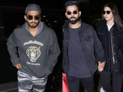 Anushka-Virat Snapped Hand In Hand At Airport