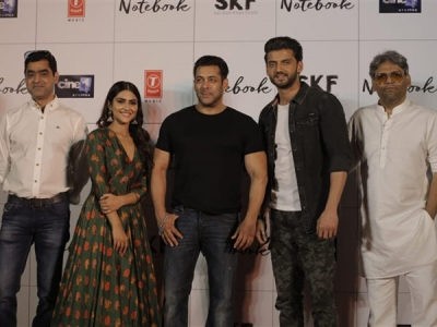 Pics! Salman Khan Launches Notebook Trailer