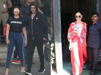 Akshay-Parineeti Snapped At Airport; Kiara Lunches In City