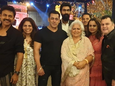 Salman, Rana & Others Attend The Wedding Of Venky's Daughter