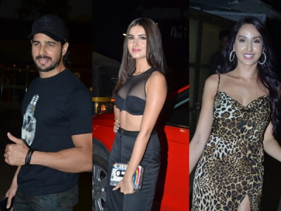 Sidharth, Tara & Others At Marjaavaan Wrap Up Party