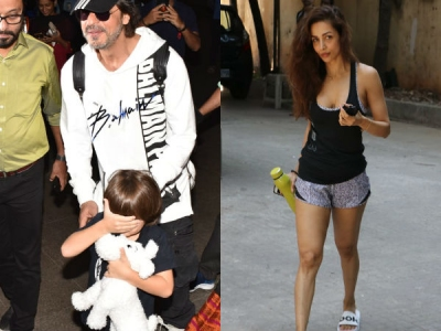 AbRam Hides From Media When Snapped With Dad SRK