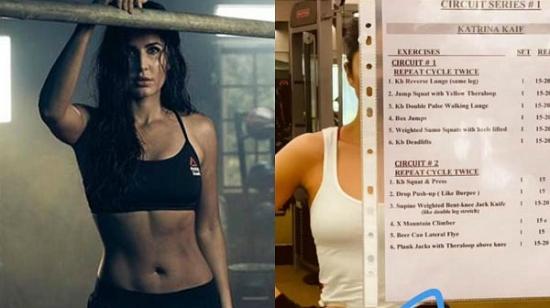 Katrina Kaif Shares Her Gym Workout Plan On Social Media
