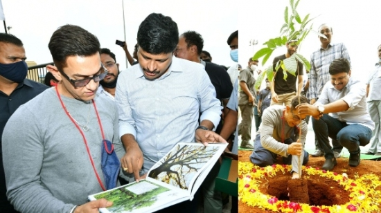 Aamir Khan Participates in Green India Challenge