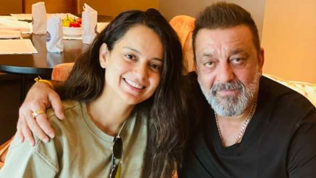 Kangana Ranaut Catches Up With Sanjay Dutt