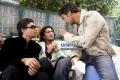 Ajay Devgan with Arshad Warsi and Irfan Khan