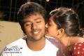 Aindrita Ray kisses Santan Bhagyaraj