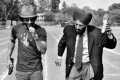 Farhan Akhtar and Milkha Singh still from on the sets of film haag Milkha Bhaag