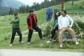 Krishna Kumar, Jayaram, Mia George and Suresh Gopi in Malayalam Movie Salaam Kashmir