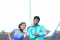 Lakshmi Menon and Vishal Krishna still from film Pandiya Nadu