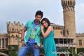 Prajwal Devaraj and Nikki in Kannada Movie Jamboo Savari