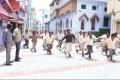 Vikranth, Soori and Vishal still from film Pandiya Nadu.