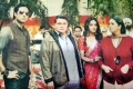 Abhishek Bachchan, Asin, Rishi Kapoor and Smriti Irani on the sets of film Mere Apne