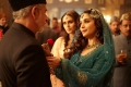 Naseeruddin Shah, Madhuri Dixit and Huma Qureshi still from film Dedh Ishqiya